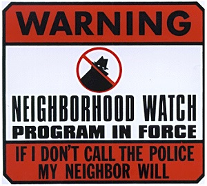 Neighborhood Watch Program Sign